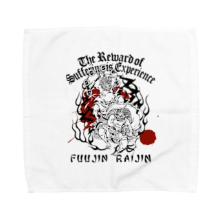 FUUJIN RAIJIN Towel handkerchiefs