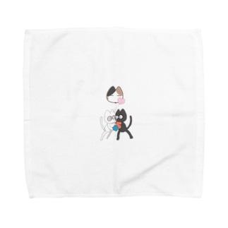 CAT FIGHT Towel handkerchiefs