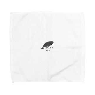 コマッコウクジラさん Towel handkerchiefs