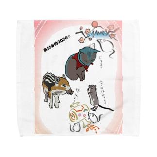 青くんと干支 あけおめ2020 Towel handkerchiefs