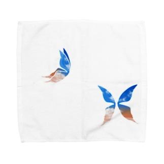 移ろい蝶々─複─ Towel handkerchiefs