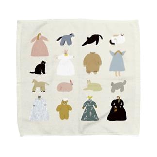 どうぶつとモンスターと女の子 Towel handkerchiefs