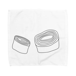 卵焼きとバームクーヘン Towel handkerchiefs