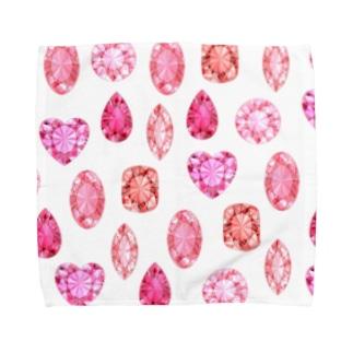 赤い宝石 Towel handkerchiefs