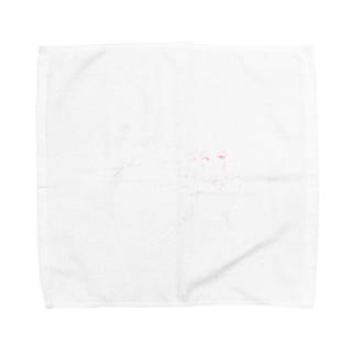 メイドハートガッツピンク Towel handkerchiefs