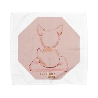 座布団犬もふこさん Towel handkerchiefs