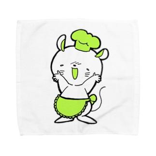 ねずみのコックさんハンケチ Towel handkerchiefs