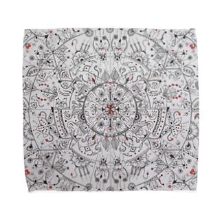 Gatto69Rosso  混沌 Towel handkerchiefs