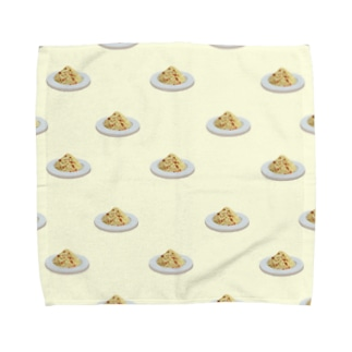 カルボナーラ柄 Towel handkerchiefs