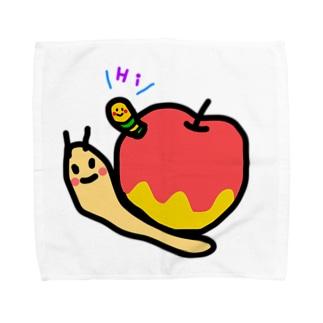 むしくいりんごつむり。 Towel handkerchiefs
