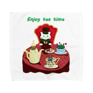 Enjoy tea party♪ Towel handkerchiefs