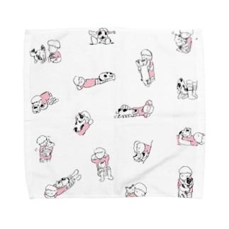 ネコとヒト Towel handkerchiefs
