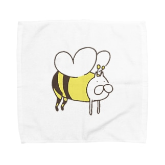 ねこタイツのみつばちタイツ Towel handkerchiefs