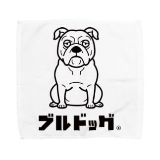 003_ブルドッグ Towel handkerchiefs