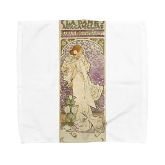 「LA. DAME. / AUX. CAMELIAS / SARAH BERNHARDT」  Mucha, Alphonse/Paris Musées Towel handkerchiefs