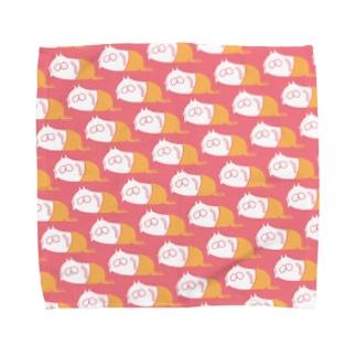 ねこタイツの日常 サーモン Towel handkerchiefs