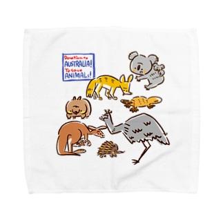 オーストラリアアニマル(500円募金) Towel handkerchiefs