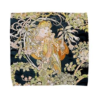 ミュシャ『 ヒナギクを持つ女性 』 Towel handkerchiefs
