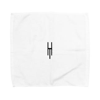 Tsubara Hayashi Official Logo 【White】 Towel handkerchiefs