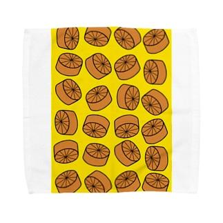 おでん・大根(イエロー) Towel handkerchiefs