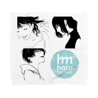 halufactoryピアスガールグッズ Towel handkerchiefs