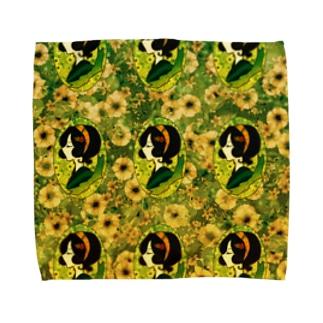 レトロちっくガール Towel handkerchiefs