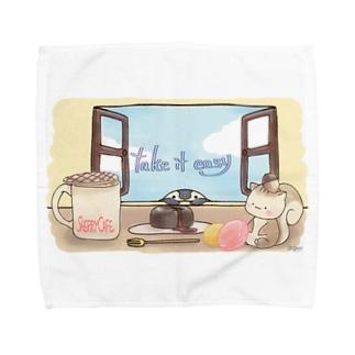 ほっこりティータイム Towel handkerchiefs