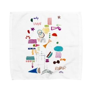 まめまめしくくらしたいたい Towel handkerchiefs