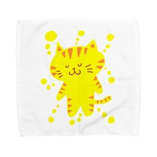 きいろいねこ Towel handkerchiefs
