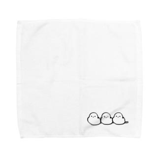 シマエナガのチュンたろー3匹ver. Towel handkerchiefs