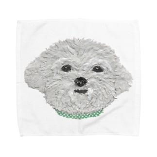 Bless Hue のマルチーズ Towel handkerchiefs