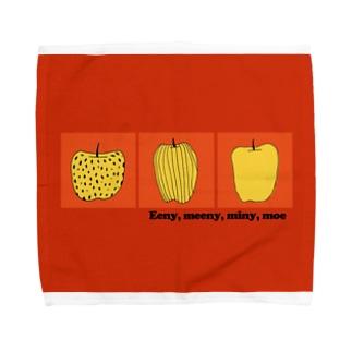 りんごみっつオレンジ Towel handkerchiefs