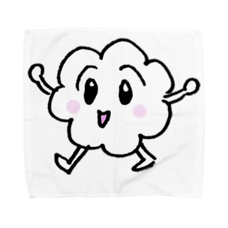 ボワボワくんのあるくボワボワくん Towel handkerchiefs
