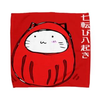 37✕34 にゃダルんハンカチ(L) Towel handkerchiefs
