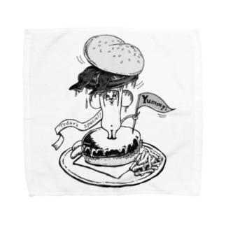 YUMMY!ねずみバーガー Towel handkerchiefs