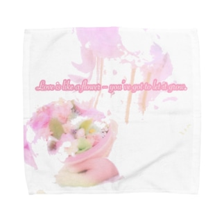 花のように愛を育てましょう Towel handkerchiefs