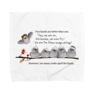 シマエナガ6兄弟 Towel handkerchiefs