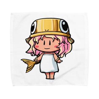 ゴールドのうおさん(魚座) Towel handkerchiefs