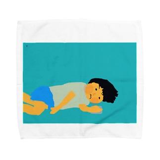 ダラダラするほっぺ君 Towel handkerchiefs