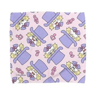 火野かれはショップSUZURI支店のシキシャ(悪巧み) Towel handkerchiefs