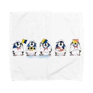 なでがたペンギン水夫さん Towel handkerchiefs
