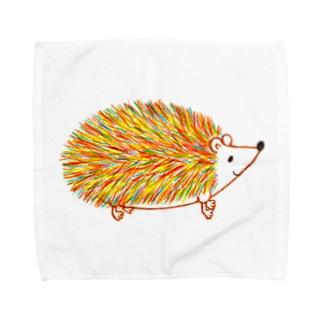 秋のハリネズミ Towel handkerchiefs