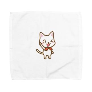 白ねこ公式キャラクター Towel handkerchiefs