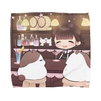 シロクマ帝国グッズ支店の耳かきラジオ5タオルハンカチ Towel handkerchiefs