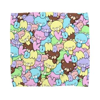 カラフルくまっぷ-タオルハンカチ Towel handkerchiefs
