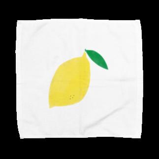 さかなにんげん太郎のレモン Towel handkerchiefs