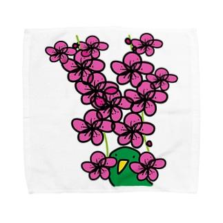 梅とトリ Towel handkerchiefs