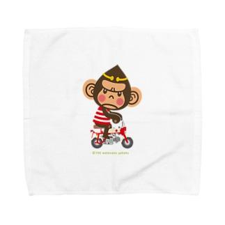"""ドングリ頭のチンパンジー""""Monkey"""" Towel handkerchiefs"""