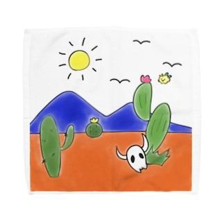 クマバチとメキシカンタイル Towel handkerchiefs