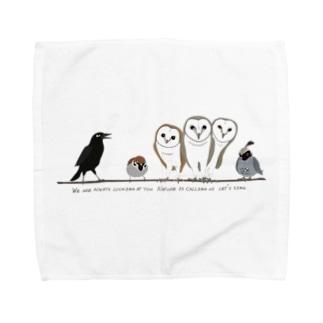 鳥たちのさえずり Towel Handkerchief